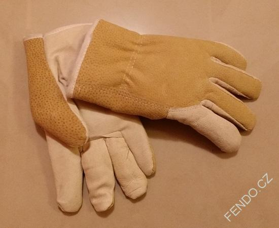 Zimní kožené pracovní rukavice vel. 8  21a29c1633